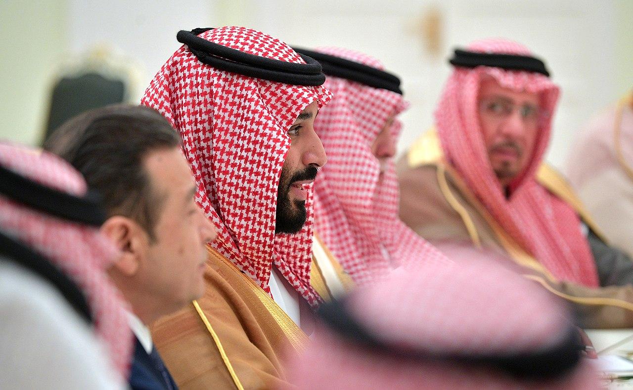 Crown Prince of Saudi Arabia Mohammad bin Salman Al Saud meets with Russian President Vladimir Putin in the Kremlin, Moscow, June 14, 2018. (Russian Presidential Executive Office via Wikimedia)