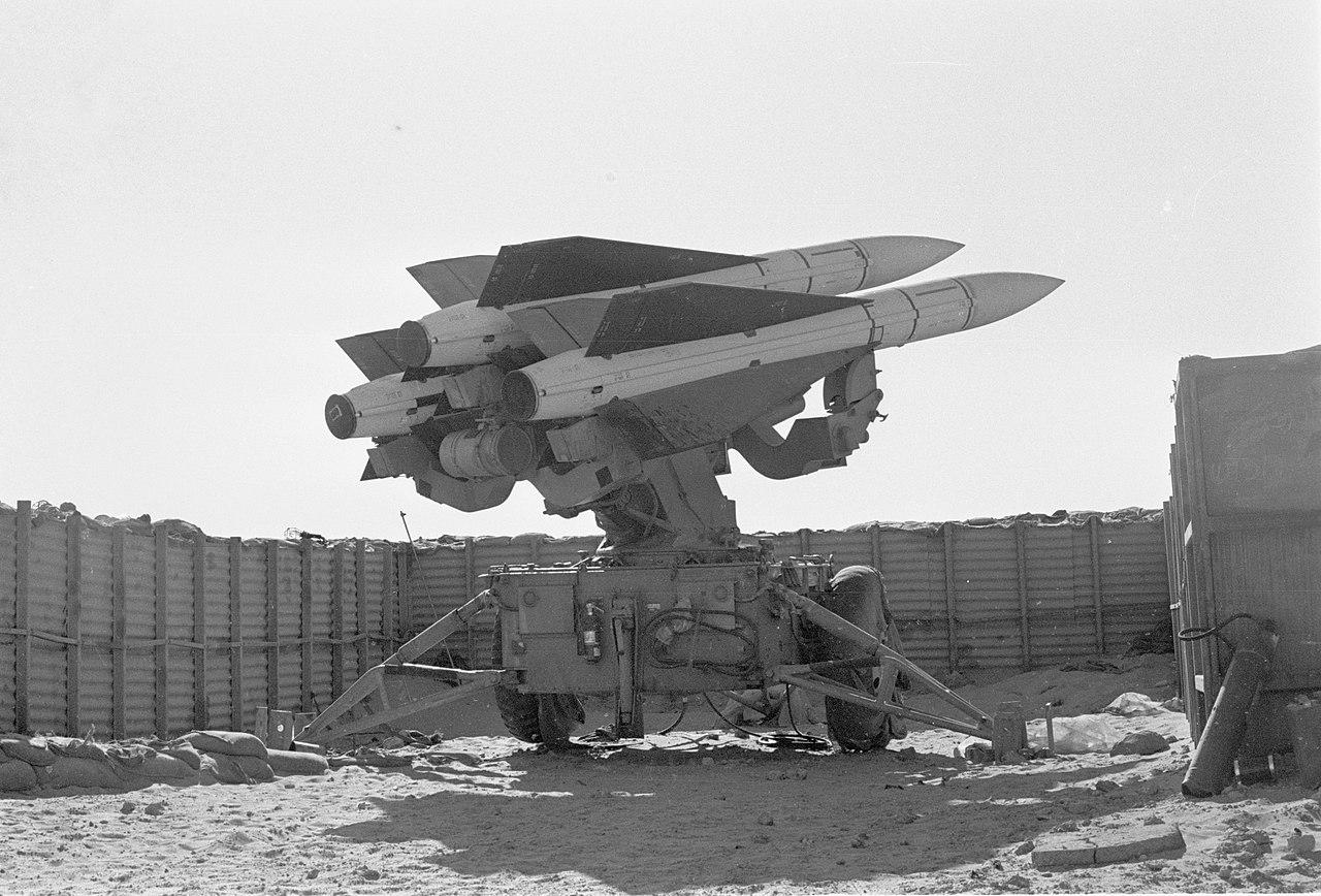 Israeli missile launchers during the 1973 Yom Kippur War (IDF via Wikimedia)