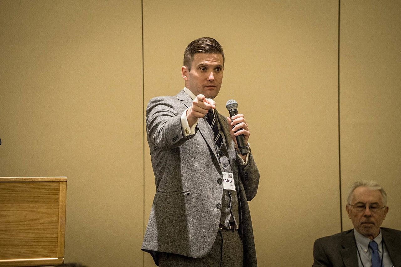 Prominent white nationalist Richard Spencer at the Ronald Reagan Building, Washington, D.C., on November 19, 2016 (Vas Panagiotopoulos/CC BY 2.0)