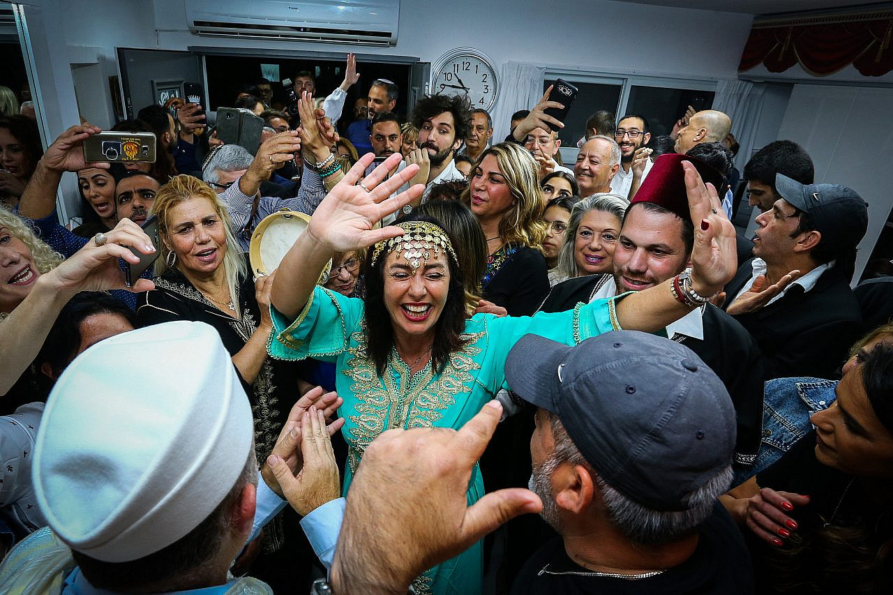 Israeli politician Miri Regev attends the Jewish Moroccan Mimouna celebration held at the end of Passover, on April 27, 2019. (Flash90)