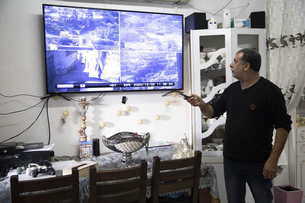 Zuheir Rajbi seen in his home in Silwan, East Jerusalem. (Oren Ziv)