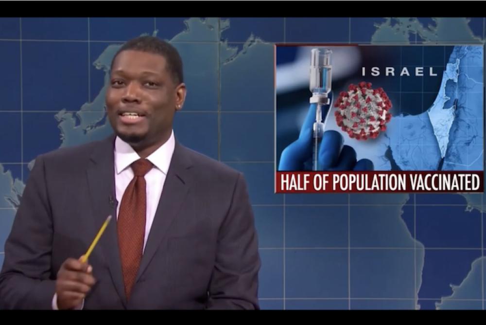 Saturday Night Live's Michael Che, February 20, 2021. (YouTube Screenshot)