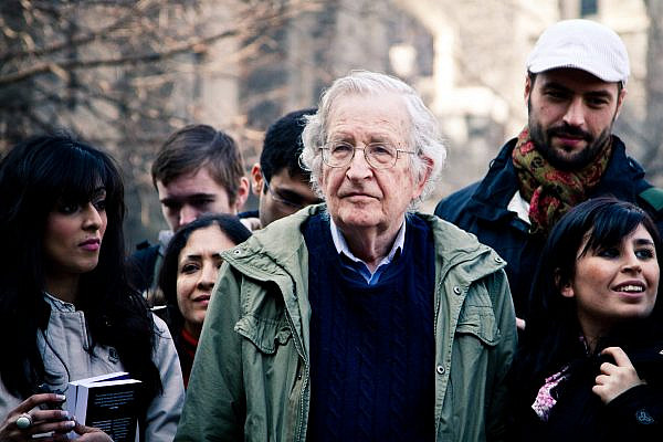 Noam Chomsky at the University of Toronto, April 7, 2011. (Andrew Rusk/Flickr)