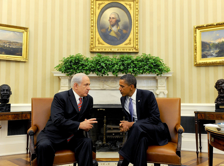 Israeli Prime Minister Benjamin Netanyahu meets with U.S. President Barack Obama at the White House in Washington D.C., Sept. 1. 2010. (Moshe Milner/GPO)