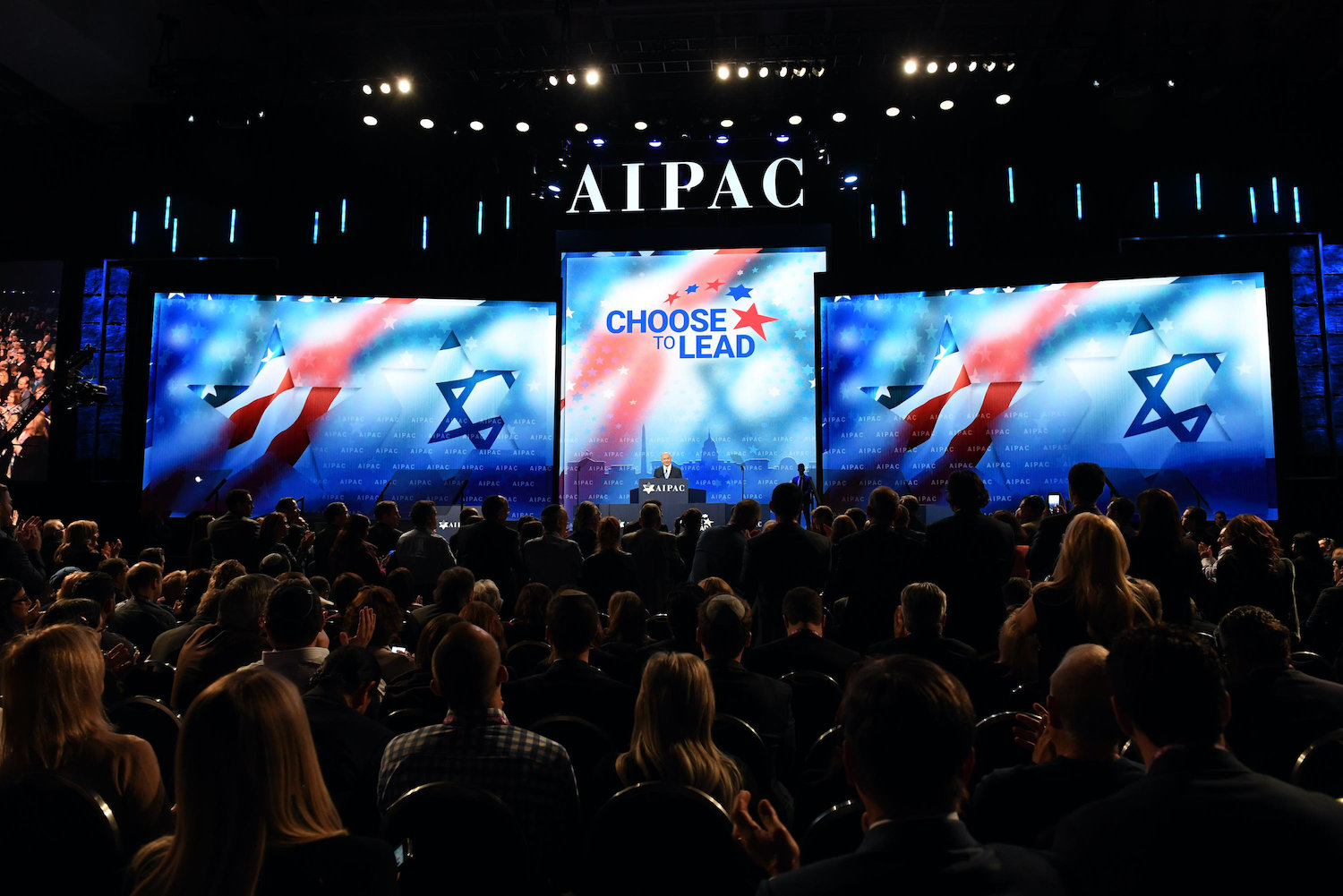 Israeli Prime Minister Benjamin Netanyahu speaks at the AIPAC Conference in Washington, D.C. on March 6, 2018 (Haim Zach/GPO)