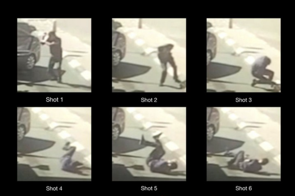 A frame by frame breakdown of the shooting of Ahmad Erekat. (Forensic Architecture)