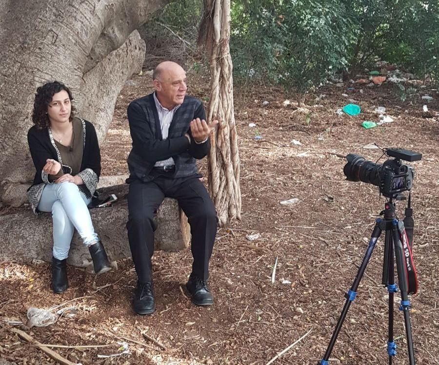 Salim Wakim (r), Palestinian land attorney. (Samaa Wakim)