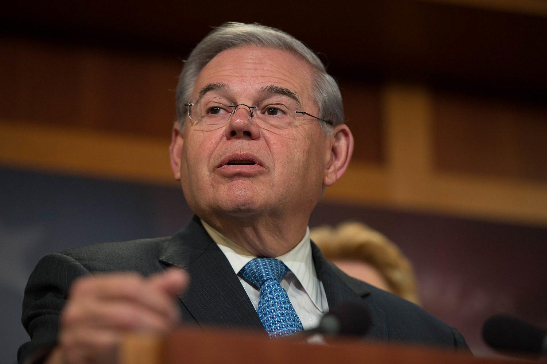 Sen. Robert (Bob) Menendez of New Jersey during a press conference of Senate Democrats, April 28, 2016. (Senate Democrats/Flickr)