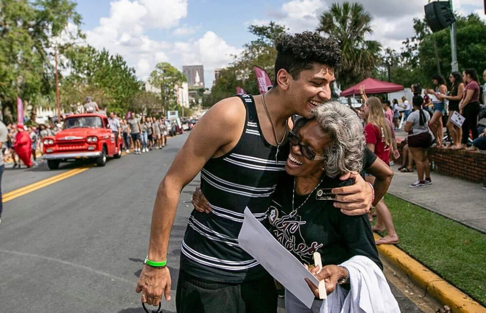 Ahmad Daraldik (left), Palestinian student at Florida State University who filed a civil rights complaint charging the school with anti-Palestinian racism. (Ahmad Daraldik/Palestine Legal)