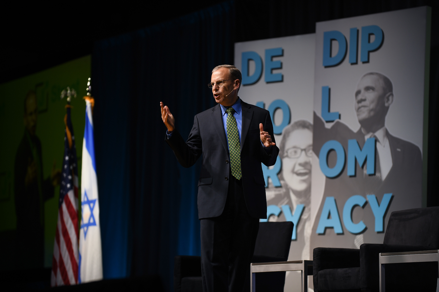 J Street President Jeremy Ben-Ami speaking at the 2019 national conference in Washington, D.C., on October 27, 2019. (Gili Getz)
