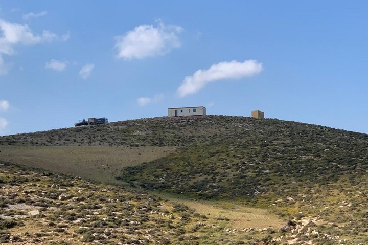 A new outpost in the South Hebron Hills, March 2021. (Basil al-Adraa)