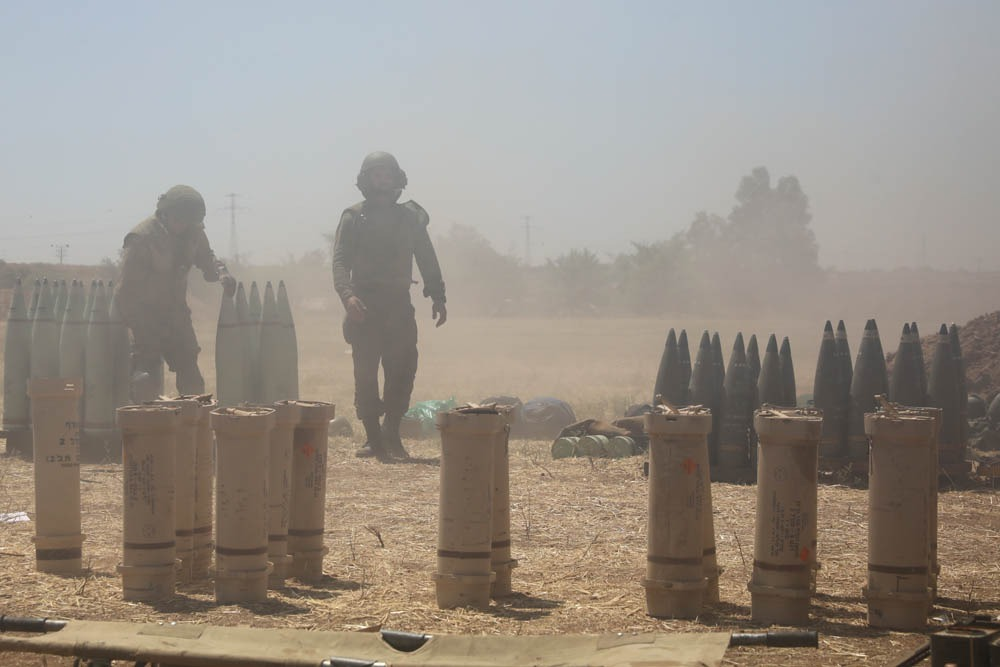 Israeli soldiers seen near the border with Gaza, May 19, 2021. (Oren Ziv)