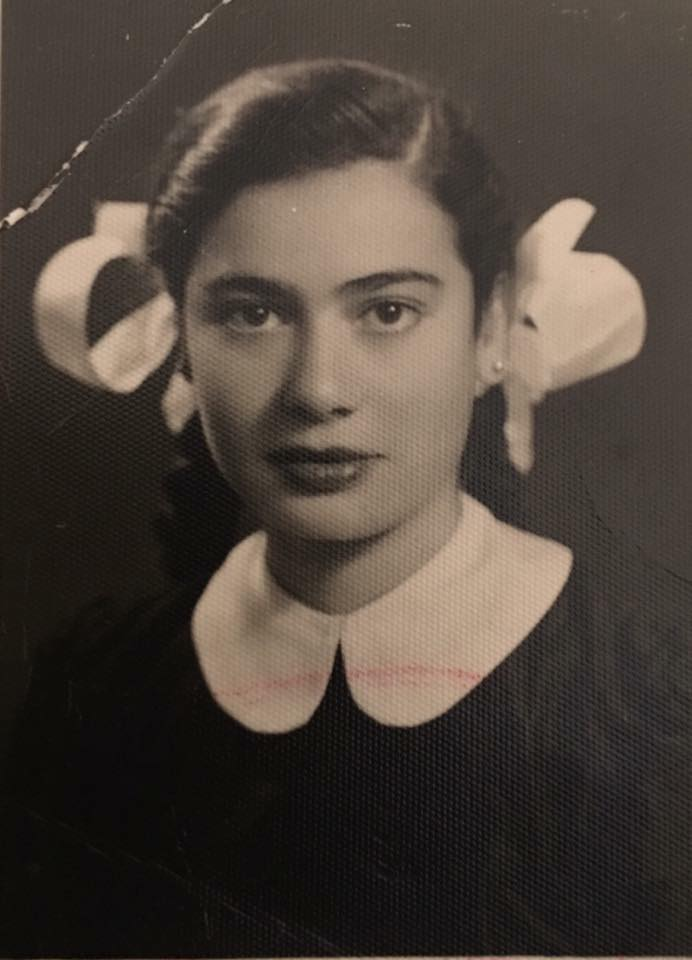 Dima Srouji's grandmother, Layla, was forcibly dispossessed from her home in Ramleh at 10 years old. She ended up in Gaza for two years before staying in Amman, Jordan until she married Dima's grandfather, who brought her back to Palestine in the late 50s. (Courtesy of Dima Srouji)