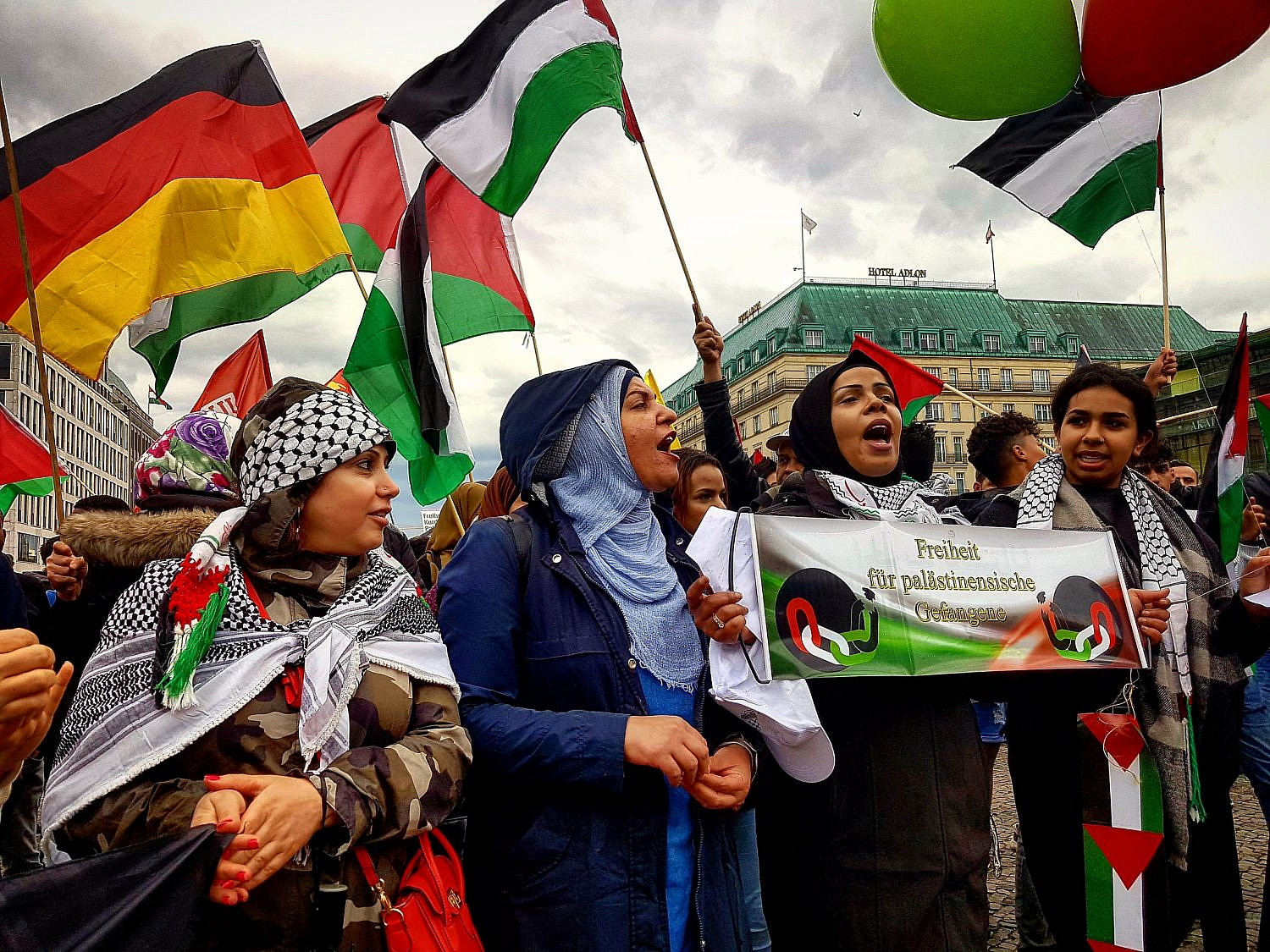 Palestine solidarity protest in Berlin, Germany, May 15, 2018. (Hossam el-Hamalawy/Flickr/CC BY 2.0)