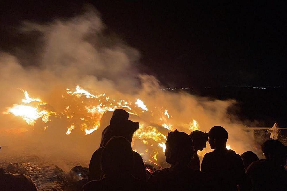 What Israeli soldiers don't demolish by day, settlers burn by night