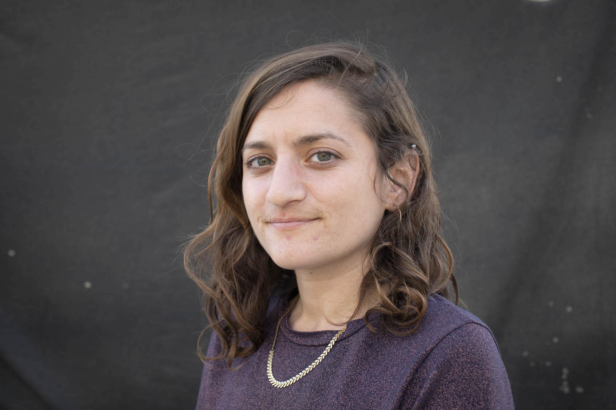 One Climate activist Ya'ara Peretz. (Oren Ziv)