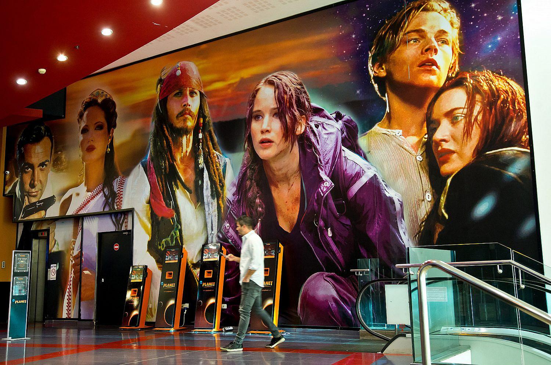 Yes Planet movie theatre in Ramat Gan mall. Nov. 10, 2019. (Moshe Shai/Flash90)