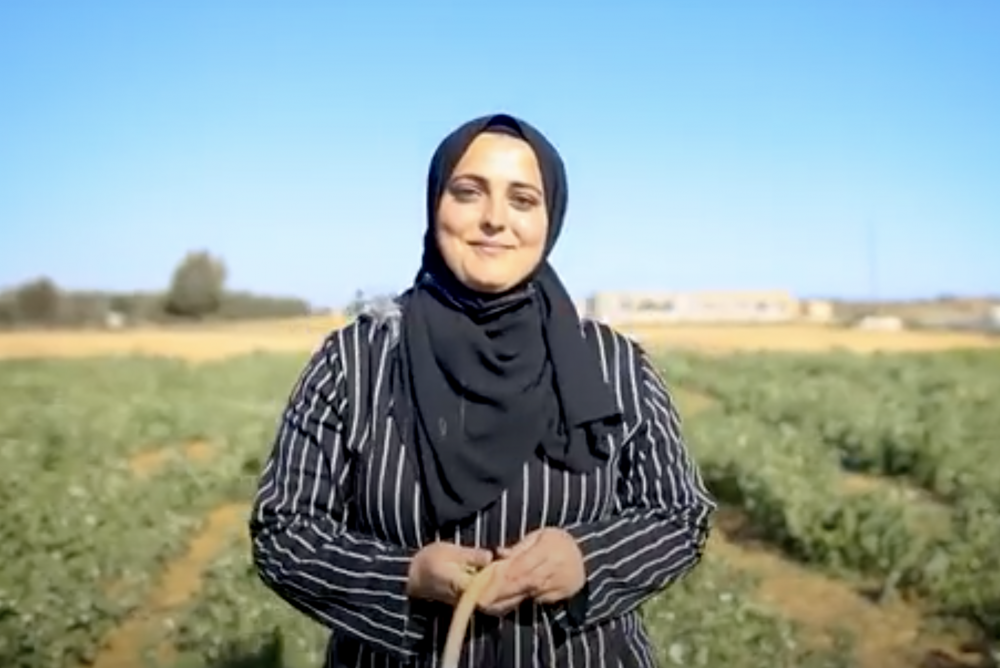 Ghaidaa Qudaih of the Green Girls agricultural initiative in Gaza. (Photo courtesy of Gisha)
