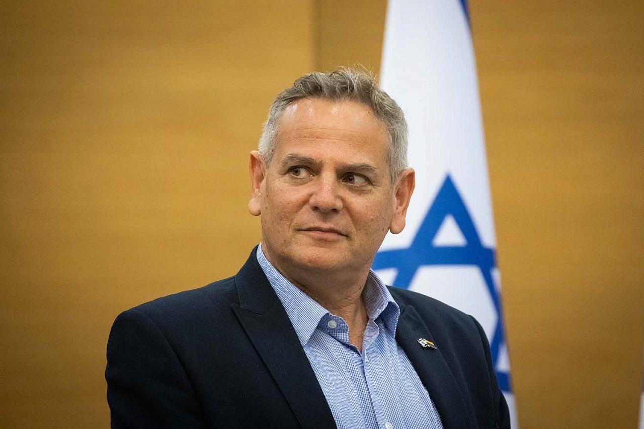 Israeli Health Minister Nitzan Horowitz holds a press conference at the Knesset in Jerusalem on July 11, 2021. (Yonatan Sindel/Flash90)