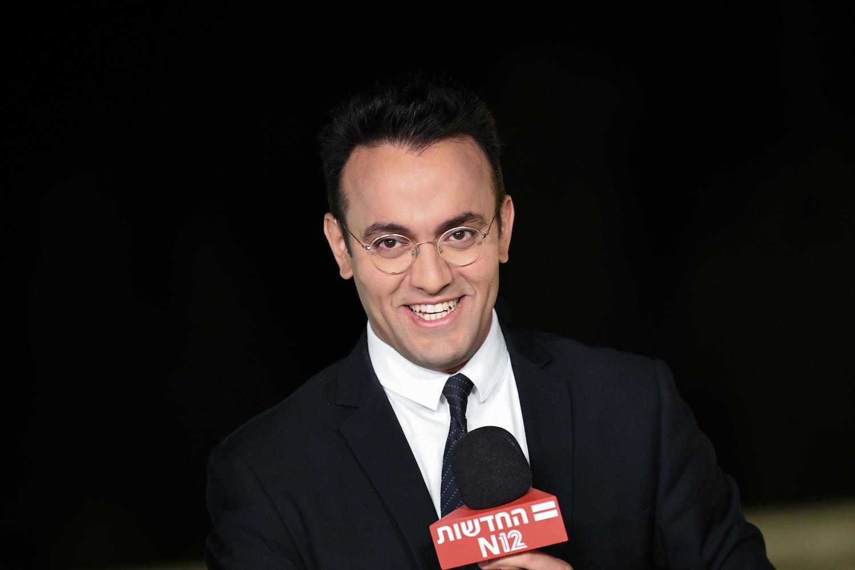 Channel 12 News' Ofer Hadad (Arie Leib Abrams/Flash90)