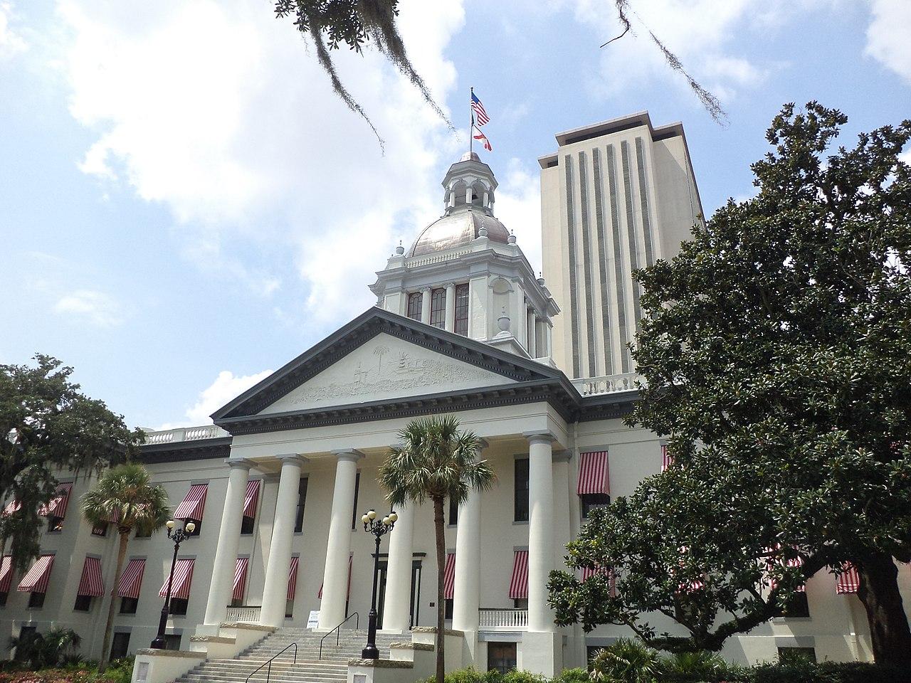 Florida's Historic Capitol and Florida State Capitol, Tallahassee, Leon County, Florida, August 31, 2013. (Michael Rivera/CC-SA-3.0)
